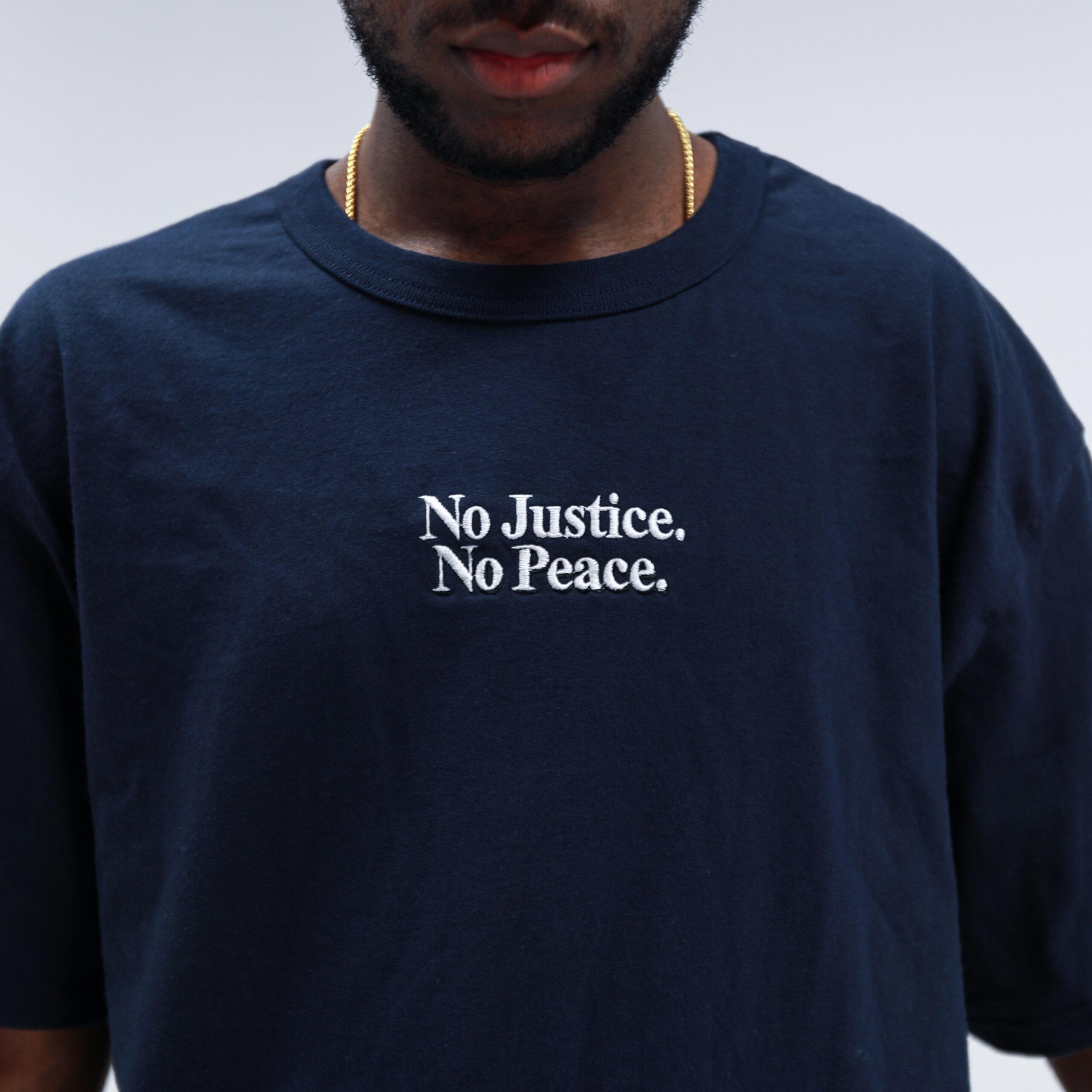 No Justice No Peace Navy Tee (Pre-Order)